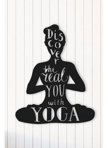 Angemiel Home Yoga Metal Duvar Tablosu Siyah